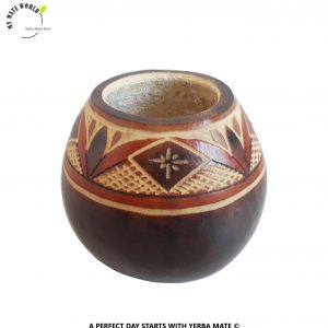 Handcarved-Orange-Rhombus-Yerba-Mate-Gourd