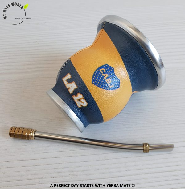 Boca Juniors Yerba Mate Cup & Bombilla
